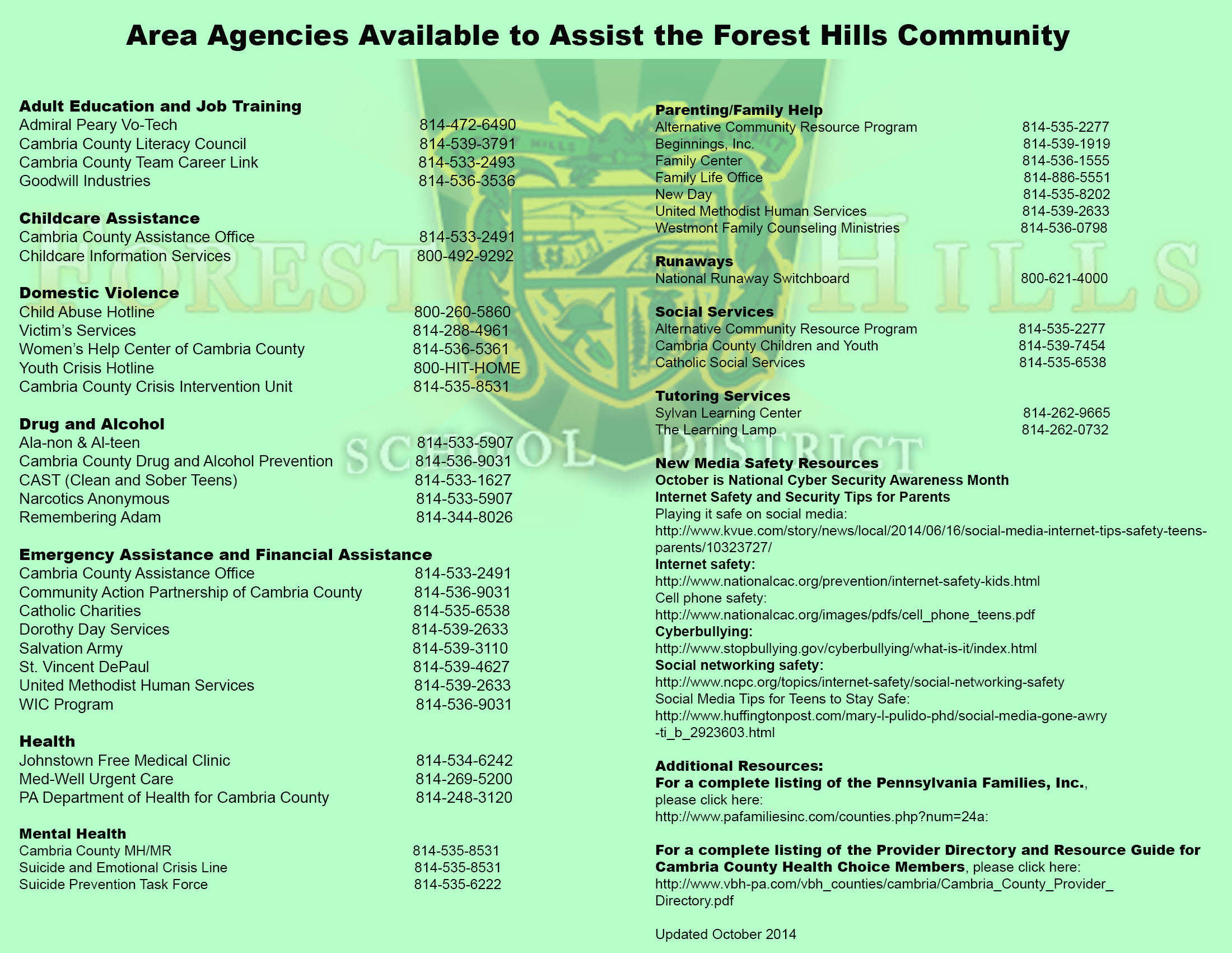 Forest hills adult community education