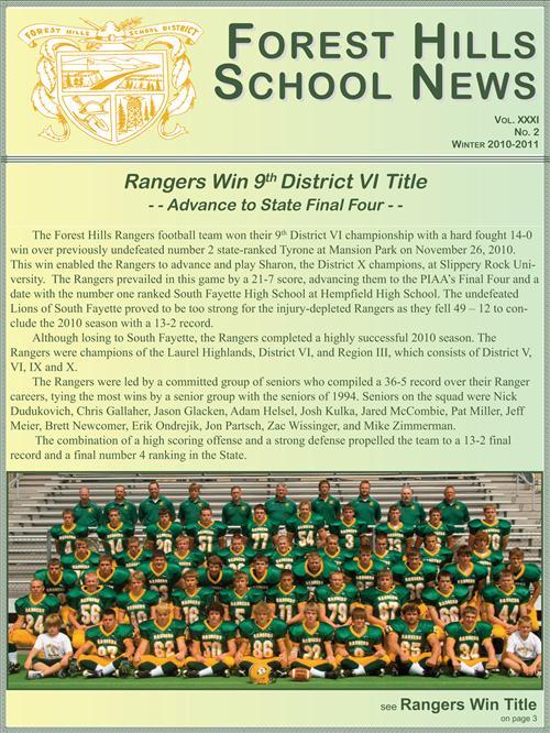 Winter Newsletter 2010-2011