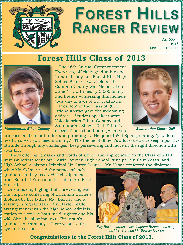 Spring Newsletter 2012-2013