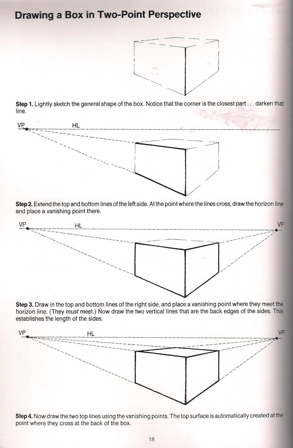 4114 on Perspective Art Lesson Worksheet