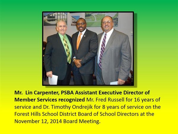 Board Members Recognized
